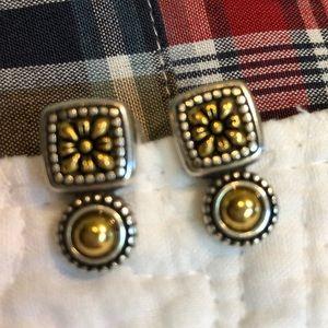 Brighton 2-tone Earrings EUC